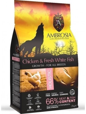 AMBROSIA GRAIN FREE GROWTH CHICKEN & FRESH FISH 2KG (ΚΟΥΤΑΒΙΟΥ)