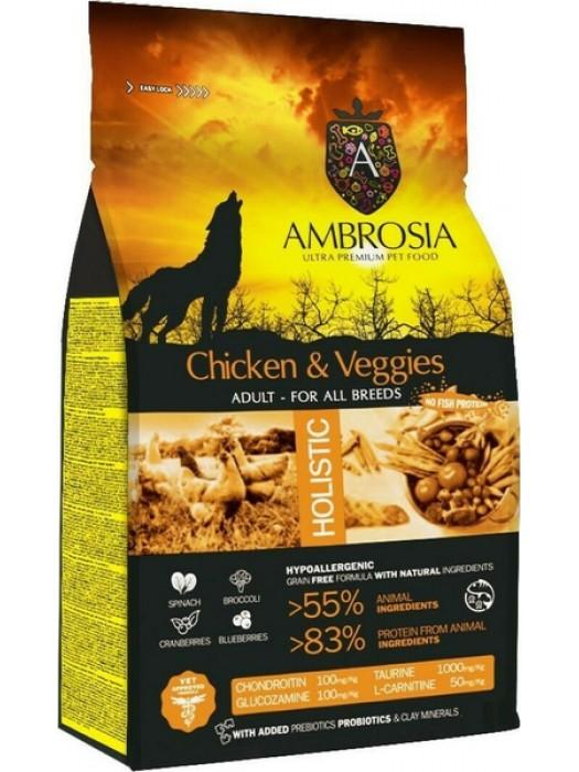 AMBROSIA GRAIN FREE ADULT CHICKEN & VEGIES 12kg