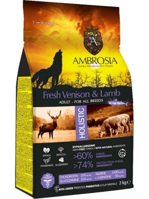 AMBROSIA GRAIN FREE ADULT VENISON & LAMB 2kg