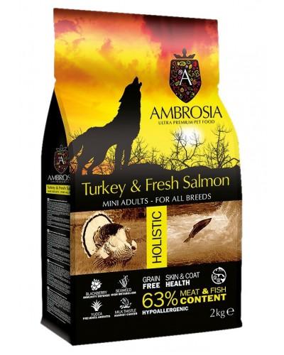 AMBROSIA GRAIN FREE ADULT MINI FRESH TURKEY & SALMON 2Kg