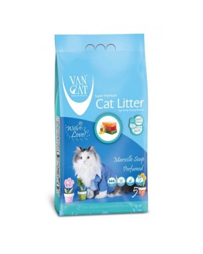 VAN CAT MASSALIAS SOAP CLUMPING 5KG (ΑΡΩΜΑ ΣΑΠΟΥΝΙ ΜΑΣΣΑΛΙΑΣ)