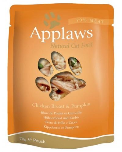 APPLAWS CAT CHICKEN BREAST & PUMPKIN 70GR (ΦΑΚΕΛΑΚΙΑ ΜΕ ΚΟΤΟΠΟΥΛΟ & ΚΟΛΟΚΥΘΑ)
