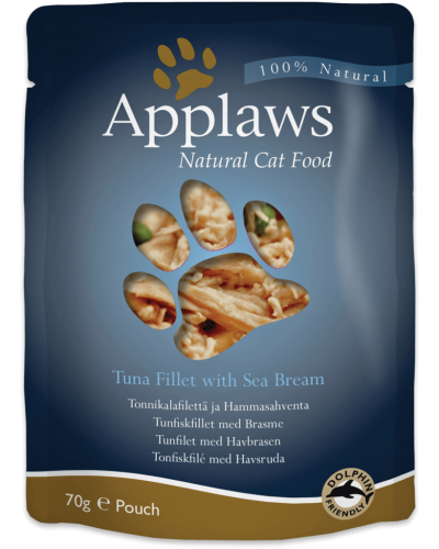 APPLAWS CAT TUNA FILLET WITH SEABREAM 70GR (ΦΑΚΕΛΑΚΙΑ ΜΕ ΤΟΝΟ ΚΑΙ ΤΣΙΠΟΥΡΑ)