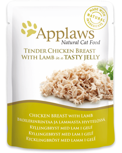 APPLAWS CAT CHICKEN WITH LAMB IN JELLY 70GR (ΦΑΚΕΛΑΚΙΑ ΜΕ ΚΟΤΟΠΟΥΛΟ & ΑΡΝΙ ΣΕ ΖΕΛΕ)