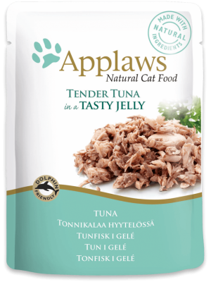 APPLAWS CAT TUNA IN JELLY 70GR (ΦΑΚΕΛΑΚΙΑ ΜΕ ΤΟΝΟ ΣΕ ΖΕΛΕ)