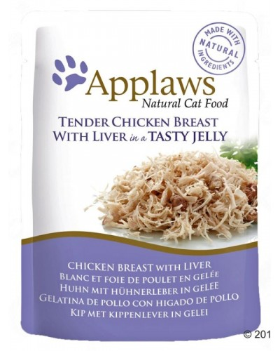 APPLAWS CAT CHICKEN BREAST WITH LIVER IN JELLY 70GR (ΦΑΚΕΛΑΚΙΑ ΜΕ ΚΟΤΟΠΟΥΛΟ & ΣΥΚΩΤΙ ΣΕ ΖΕΛΕ)