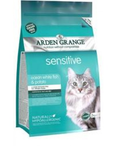 ARDEN GRANGE ADULT SENSITIVE OCEAN WHITE FISH & POTATO 2kg