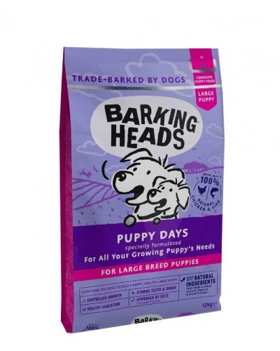BARKING HEADS PUPPY DAYS LARGE BREED 12kg (ΜΕΓΑΛΟΣΩΜΑ ΚΟΥΤΑΒΙΑ)