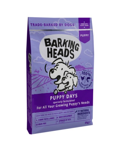 BARKING HEADS PUPPY DAYS CHICKEN & SALMON 6KG