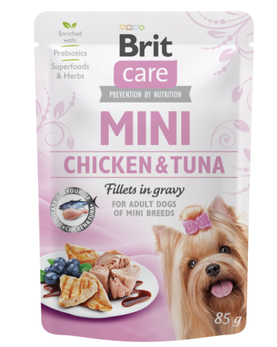 BRIT CARE MINI CHICKEN & TUNA 85GR