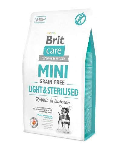 BRIT CARE MINI GRAIN FREE LIGHT & STERILISED 2KG (ΜΕ ΚΟΥΝΕΛΙ & ΣΟΛΟΜΟ)