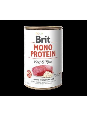 BRIT MONOPROTEIN BEEF & RICE 400GR (ΒΟΔΙΝΟ & ΡΥΖΙ)