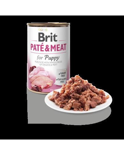 BRIT PATE & MEAT PUPPY 400GR (ΚΟΥΤΑΒΙΟΥ ΜΕ ΚΟΤΟΠΟΥΛΟ & ΓΑΛΟΠΟΥΛΑ)