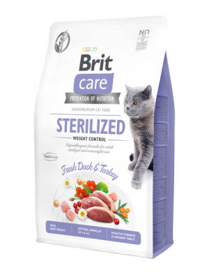 BRIT CARE STERILISED WEIGHT CONTROL GRAIN FREE DUCK & TURKEY 2KG