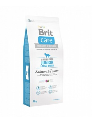 BRIT CARE JUNIOR LARGE GRAIN FREE SALMON & POTATO 3KG