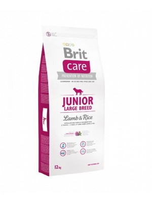 BRIT CARE JUNIOR LARGE LAMB & RICE 12KG