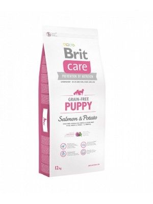 BRIT CARE PUPPY GRAIN FREE SALMON & POTATO 12KG