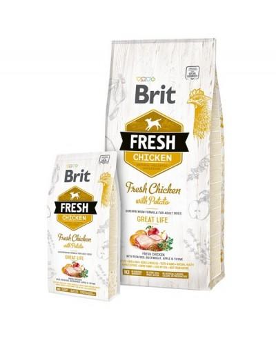 BRIT FRESH CHICKEN GREAT LIFE 2,5KG (ΕΝΗΛΙΚΑ ΜΕ ΚΟΤΟΠΟΥΛΟ & ΠΑΤΑΤΑ)