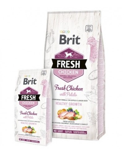 BRIT FRESH CHICKEN HEALTHY GROWTH 12KG (ΓΙΑ ΚΟΥΤΑΒΙΑ)