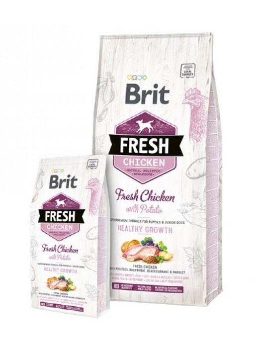 BRIT FRESH CHICKEN HEALTHY GROWTH 2,5KG (ΓΙΑ ΚΟΥΤΑΒΙΑ)