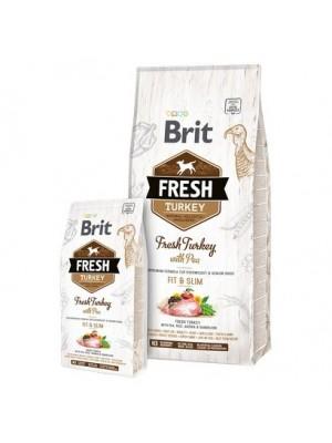BRIT FRESH TURKEY FIT & SLIM 2,5KG (ΓΙΑ ΥΠΕΡΒΑΡΟΥΣ Ή ΗΛΙΚΙΩΜΕΝΟΥΣ ΣΚΥΛΟΥΣ)