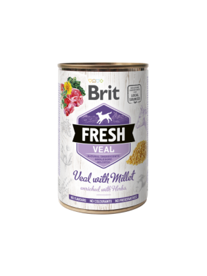 BRIT FRESH VEAL WITH MILLET 400GR (ΜΟΣΧΑΡΙ ΜΕ ΚΕΧΡΙ)