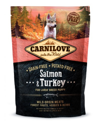 CARNILOVE PUPPY LARGE BREED SALMON & TURKEY 1,5KG