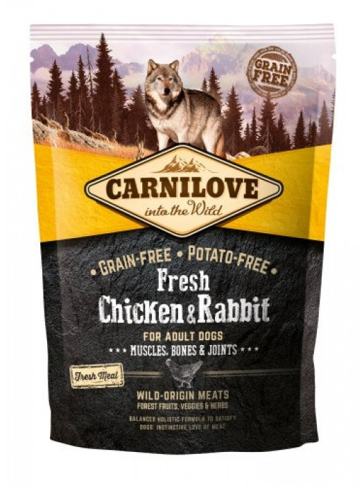 CARNILOVE FRESH ADULT DOG CHICKEN & RABBIT 1,5KG