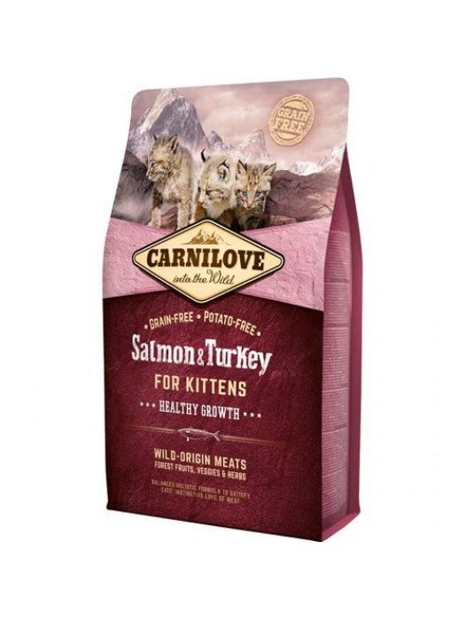 CARNILOVE KITTENS SALMON & TURKEY 2kg (ΓΑΤΑΚΙΑ ΜΕ ΣΟΛΟΜΟ & ΓΑΛΟΠΟΥΛΑ)
