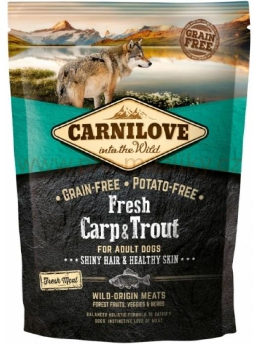 CARNILOVE FRESH ADULT DOG CARP & FRESH TROUT 1,5KG