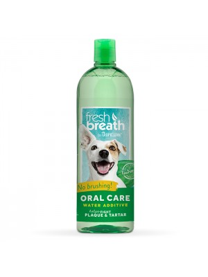 TROPICLEAN FRESH BREATH WATER ADDITIVE HELPS FIGHT PLAQUE & TARTAR 473ML