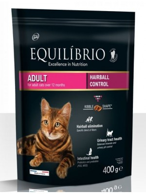 EQUILIBRIO ADULT CATS HAIRBALL 400gr