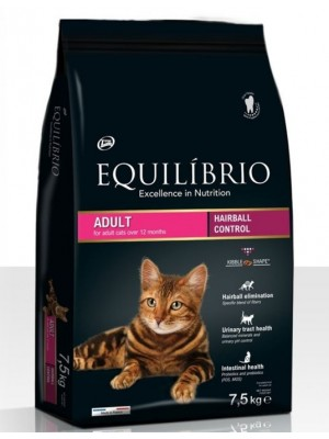 EQUILIBRIO ADULT CATS HAIRBALL 7,5kg