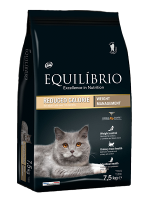 EQUILIBRIO CATS REDUCED CALORIE 7,5kg
