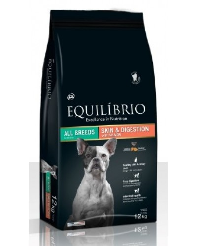 EQUILIBRIO ADULT SKIN & DIGESTION SALMON 12KG