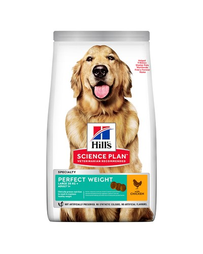 HILL'S ADULT PERFECT WEIGHT LARGE BREED CHICKEN 12KG