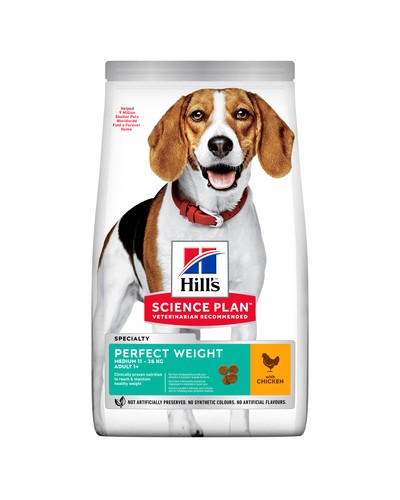 HILL'S ADULT PERFECT WEIGHT MEDIUM CHICKEN 2KG