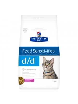 D/D FELINE FOOD SENSITIVITIES DUCK & GREEN PEA 1.5kg