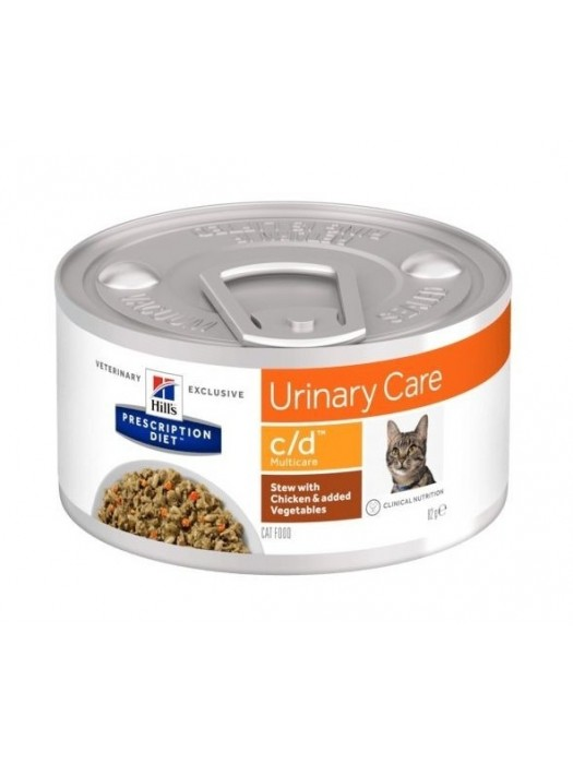 C/D FELINE MULTICARE URINARY CARE STEW CHICKEN & VEGETABLES 82GR/24ΤΜΧ (ΜΑΓΕΙΡΕΜΕΝΟ ΓΕΥΜΑ)