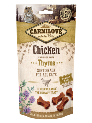 CARNILOVE SNACK SOFT CHICKEN WITH THYME 50GR