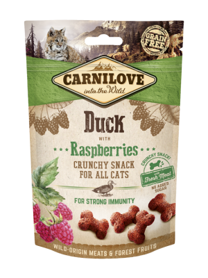 CARNILOVE SNACK FRESH & CRUNCH DUCK WITH RASBERRIES 50GR