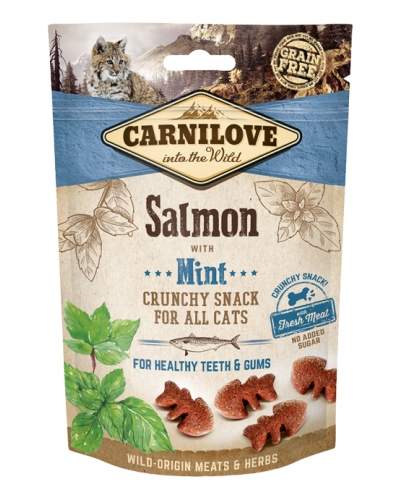 CARNILOVE SNACK FRESH & CRUNCH SALMON WITH MINT 50GR