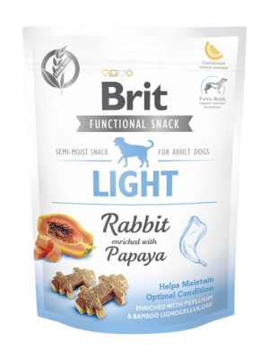 BRIT FUNCTIONAL SNACK LIGHT RABBIT WITH PAPAYA 150GR (ΚΟΥΝΕΛΙ & ΠΑΠΑΓΙΑ)