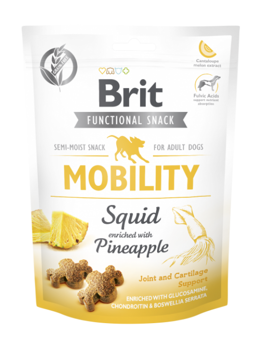 BRIT FUNCTIONAL SNACK MOBILITY SQUID WITH PINEAPPLE 150GR (ΚΑΛΑΜΑΡΙ ΜΕ ΑΝΑΝΑ)