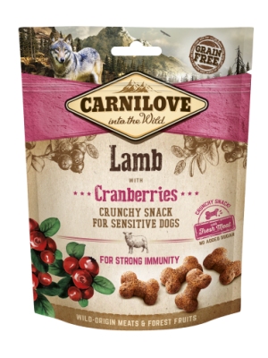 CARNILOVE SNACK FRESH & CRUNCH LAMB WITH CRANBERRIES 200GR (ΑΡΝΙ & CRANBERRIES)