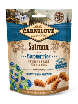CARNILOVE SNACK FRESH & CRUNCH SALMON WITH BLUEBERRIES 200GR (ΣΟΛΟΜΟΣ & ΒΑΤΟΜΟΥΡΑ)