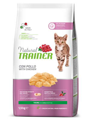 NATURAL TRAINER YOUNG CAT ΚΟΤΟΠΟΥΛΟ/ΓΑΛΟΠΟΥΛΑ 1,5KG