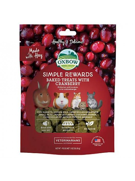 OXBOW SIMPLE REWARDS BAKED ΜΕ CRANBERRY 56GR