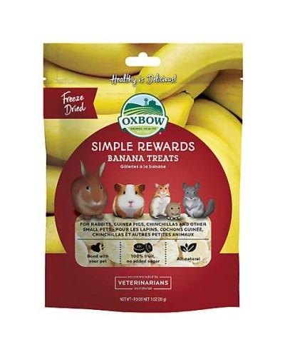 OXBOW SIMPLE REWARDS BANANA TREATS 30GR