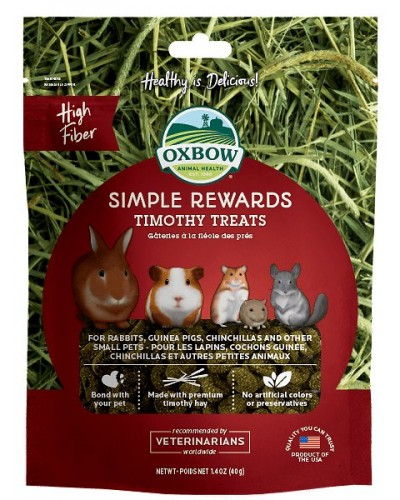 OXBOW SIMPLE REWARDS TIMOTHY TREATS 40GR